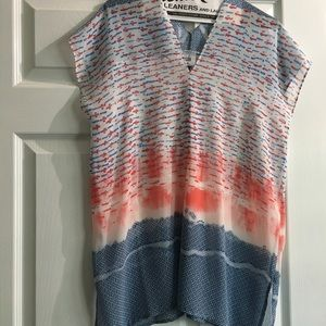CAbi Sheer Multicolored Tunic